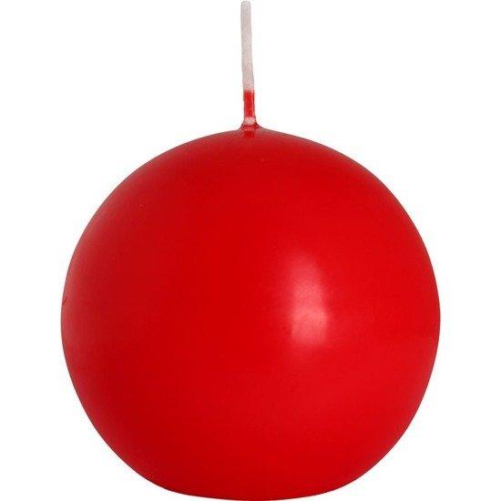 Bispol świeca bezzapachowa bryłowa kula 80 mm - Czerwona