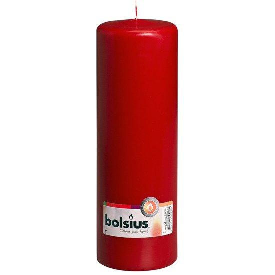 Bolsius Pillar Candle świeca bryłowa pieńkowa słupek 300/100 mm - Bordowa