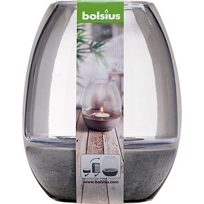 Bolsius tea light holder for garden outdoor 120/100 mm - Transparent