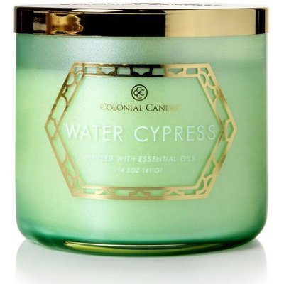 Colonial Candle Luxe large soy scented candle 3 wicks 14.5 oz 411 g - Water Cypress