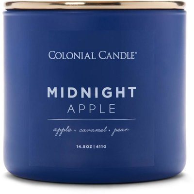 Colonial Candle Pop of Color large soy scented candle 3 wicks 14.5 oz 411 g - Midnight Apple