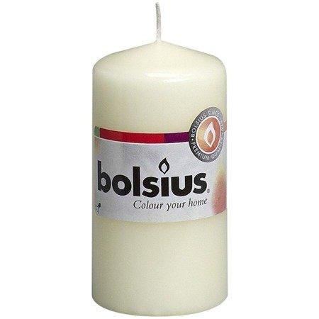 Bolsius Pillar Candle świeca bryłowa pieńkowa słupek 100/50 mm - Kremowa