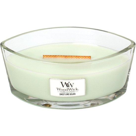 WoodWick Core Heartwick Candle świeca zapachowa sojowa w szkle łódka ~ 60 h - Sweet Lime Gelato
