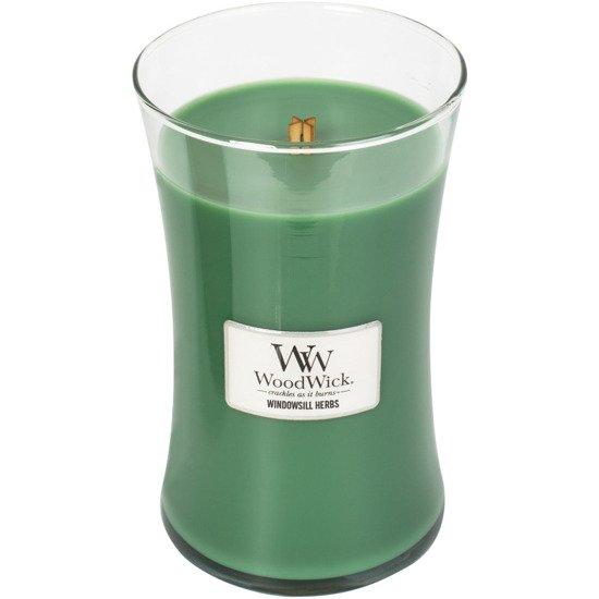 WoodWick Core Large Candle świeca zapachowa sojowa w szkle ~ 175 h - Windowsill Herbs