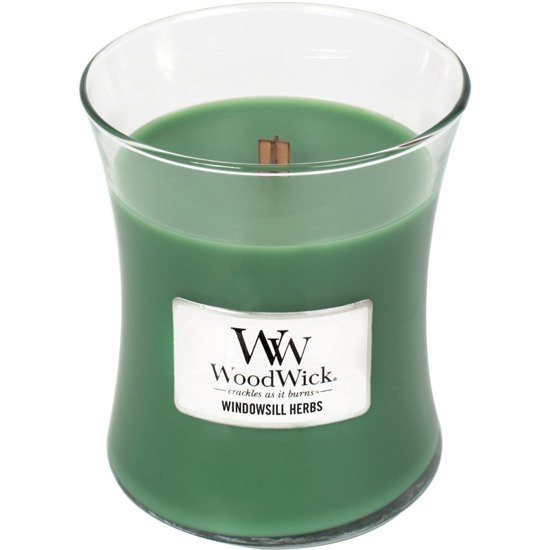 WoodWick Core Medium Candle świeca zapachowa sojowa w szkle ~ 100 h - Windowsill Herbs