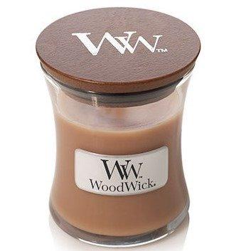 WoodWick Core Small Candle świeca zapachowa w szkle z drewnianą pokrywką ~ 40 h - Oatmeal Cookie