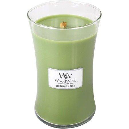 WoodWick Large Scented Candle - Bergamot & Basil