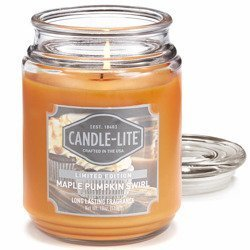 Candle-lite Everyday Collection Large Scented Candle Glass Jar 18 oz 510 g – Maple Pumpkin Swirl