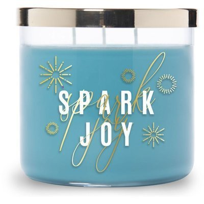 Colonial Candle Luxe large soy scented candle 3 wicks 14.5 oz 411 g - Spark Joy