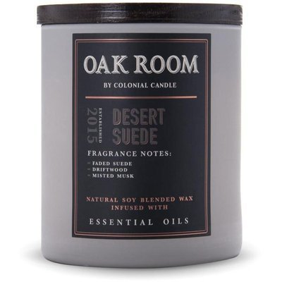Colonial Candle Oak Room wooden wick soy scented candle 15 oz 425 g - Desert Suede