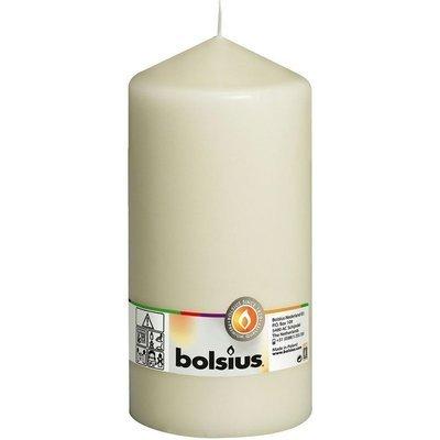 Bolsius свеча на столбе без запаха 20 см 200/98 мм - Ivory